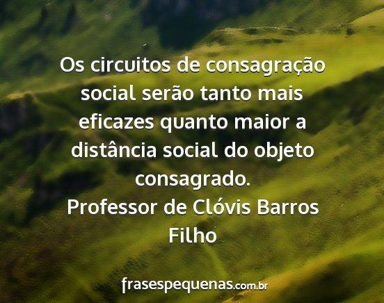 Os Circuitos De Consagração Social Serão Tanto