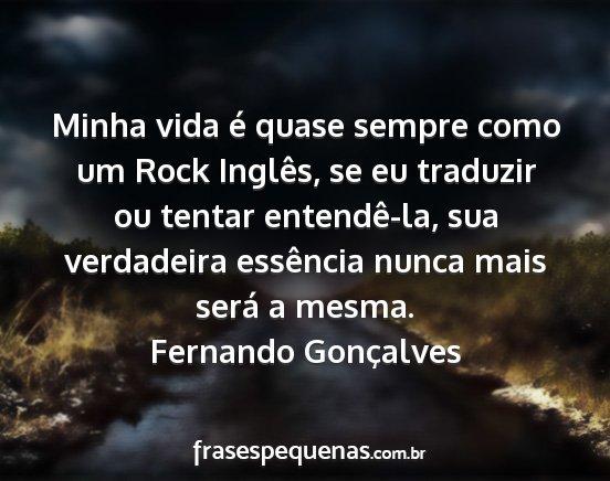 Minha Vida é Quase Sempre Como Um Rock Inglês