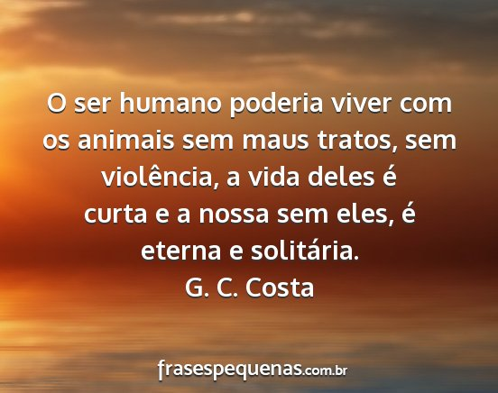 O Ser Humano Poderia Viver Com Os Animais Sem